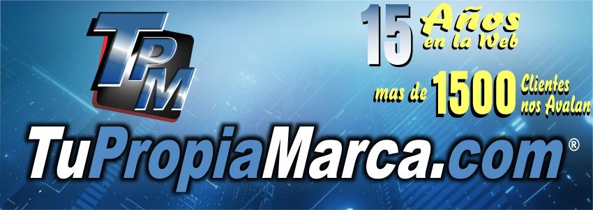 Diseño Web TuPropiaMarca.com 15 Años en la Web
